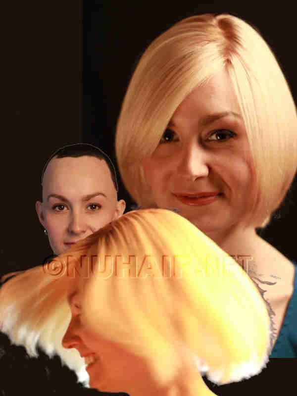 Blonde Hair Wig Human Hair Wig For Alopecia Dallas TX